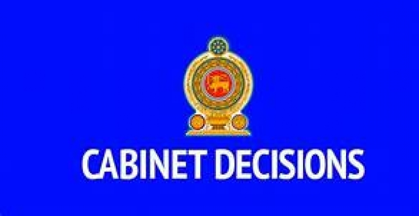 Decisions taken by the Cabinet of Ministers at its meeting held on 13.11.2018