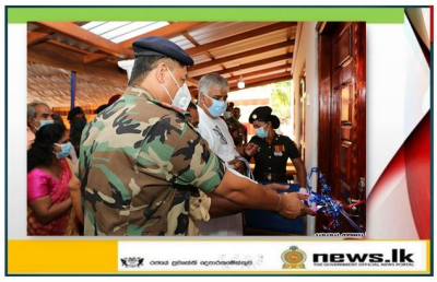 Army constructed a new house for a needy family in Jaffna