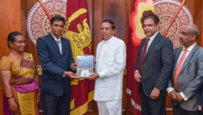 "Book on irrigation titled, ""Hela Wari Purawatha"" presented to the President"