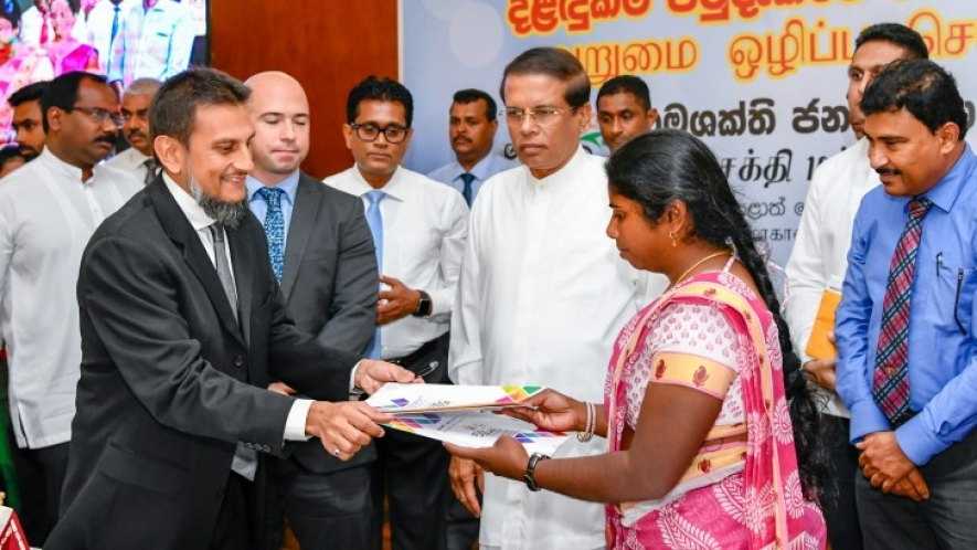 Central Province receives benefits from private sector under Grama Shakthi Movement