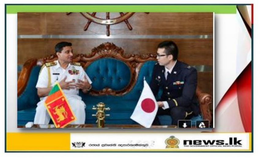 Japanese Defence Attaché pays courtesy call on Commander of the Navy