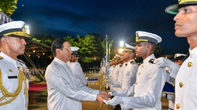President graced the commissioning naval  parade