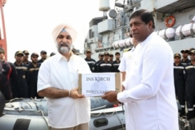 First Indian ship with relief goods arrives in Colombo