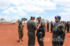 SL Aviation Unit MINUSCA receives UN Peacekeeping Medals