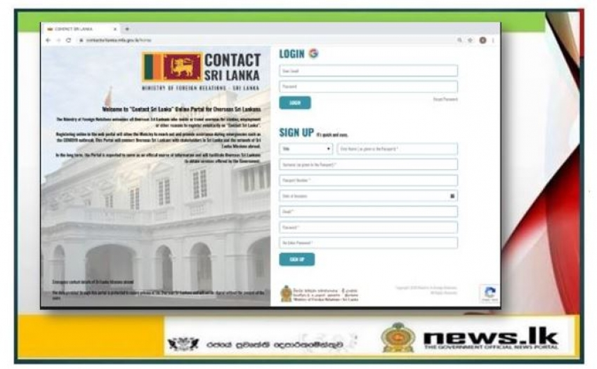 Over 17,000 Overseas Sri Lankans register on 'Contact Sri Lanka