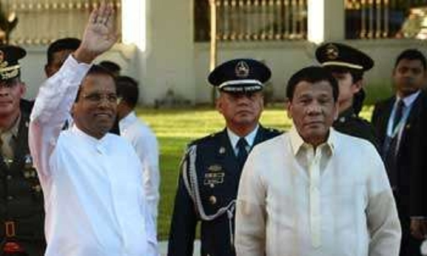 President visits Philippine  Police headquarters