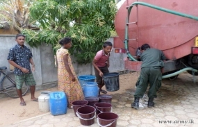 Water for drought hit families Pottuvil