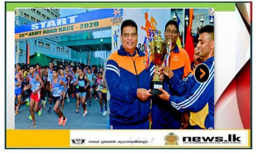 Army Road Race-2020' Flagged off at Army HQ Entrance Covers 22 Km