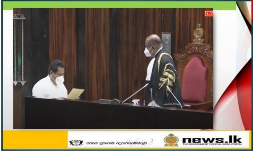 Jayantha Ketagoda sworn in as a Member of Parliament