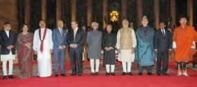 Heads of State Pose for a Photograph with India's New Prime Minister