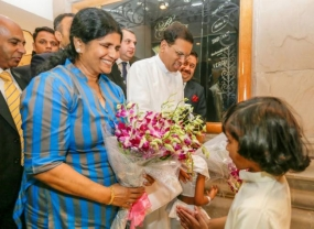 Promise of a new beginning as Sirisena lands
