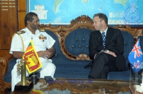 Commander Australian Boarder Protection Command meets SL Navy Chief