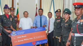 "Army donations to ""Little Heart's Fund"" handed over to President"