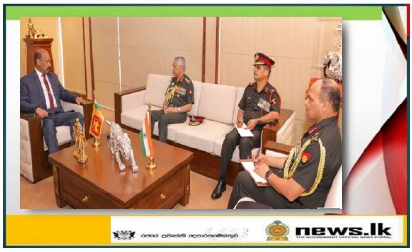 Indian Army Chief meets Defence Secretary