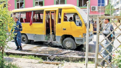 Bus targetted amid wave of Kabul bombings