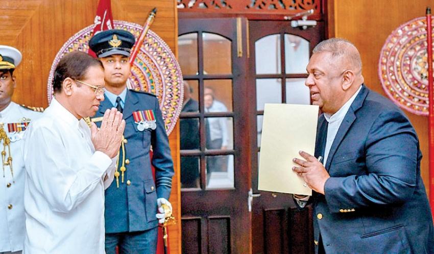 Finance minister sworn in