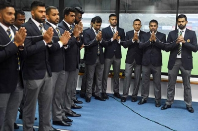 Sri Lanka team arrives in Pakistan