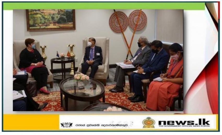 The Foreign Ministers of Sri Lanka and Australia meet on the eve of the 76th Session of the United Nations General Assembly