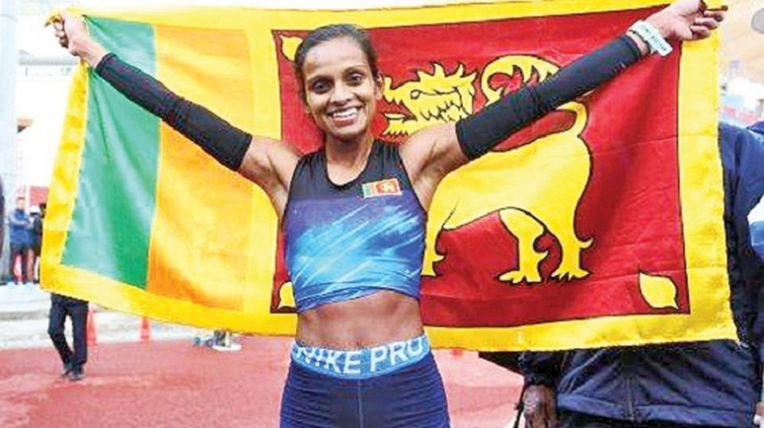 Hiruni climbs marathon's Everest