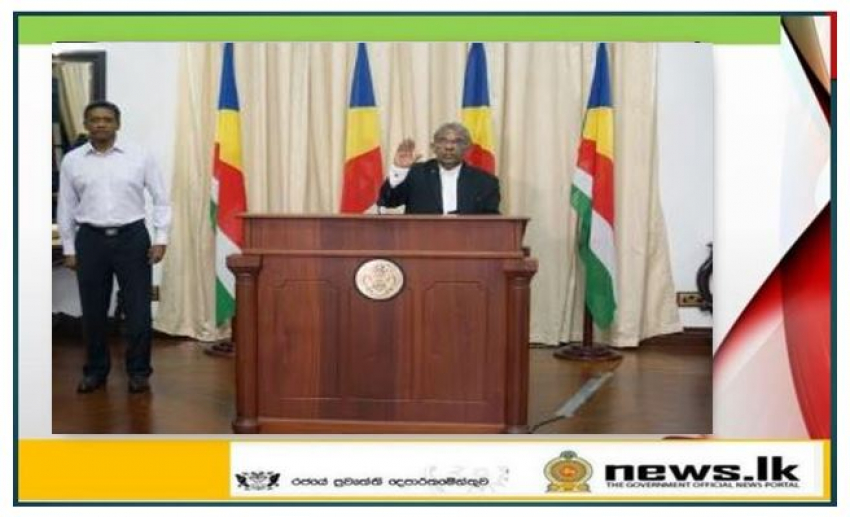 Justice Anthony Francis Tissa Fernando sworn in as the President of the Court of Appeal in Seychelles