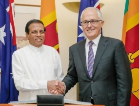 President Sirisena and PM Turnbull agree to enhance cooperation