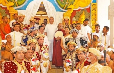 President visits Prelates, Maligawa in Kandy