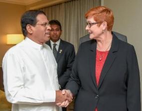 President meets Australian Defense Minister