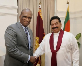 President of UNGA Calls on President Rajapaksa
