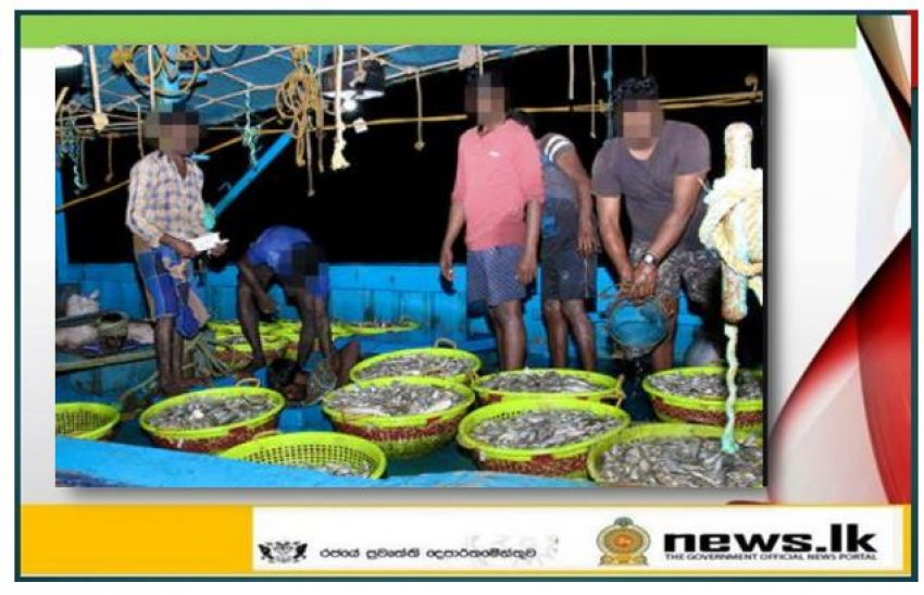 Navy apprehends 09 Indian nationals along with a trawler for poaching in Sri Lankan waters