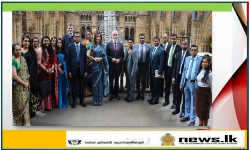 Sri Lanka High Commission pays an official visit to the Natural History Museum in London