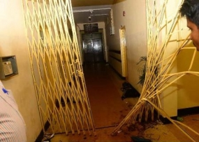 Health Ministry property damaged