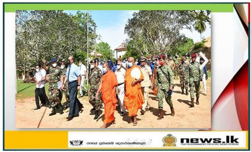 Defence Secretary lays foundation stone for proposed Pilgrims Hall at Deeghawapi Raja Maha Viharaya