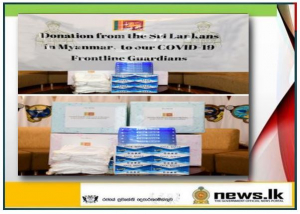 Sri Lankans in Myanmar donate a stock of PPE to Navy