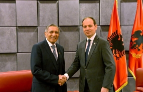 Ambassador Pelpola presents Credentials in Albania