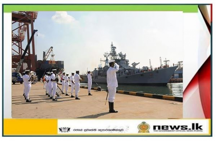 INS 'Ranvijay' arrives at the port of Colombo