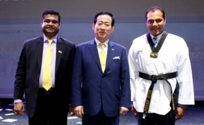 Sports Minister given Taekwondo Honorary Black Belt