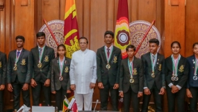President felicitates Medal winners in 2018 Junior Asian Athletics Championships .