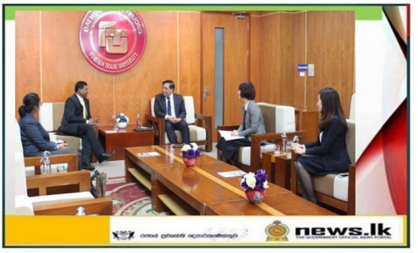 Ambassador Prasanna Gamage meets with Officials of the Foreign Trade University in Ha Noi