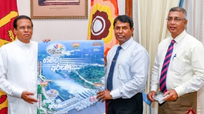 Grama Shakthi Instant lottery ticket presented to the President