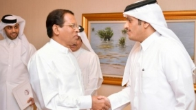 President meets Qatar's Minister of Foreign Affairs