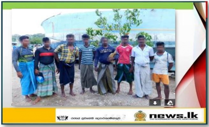 Thirteen persons engaged in illegal fishing apprehended by Navy