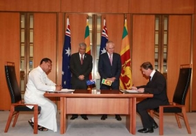Sri Lanka and Australia sign MOUs on Sport and Economic co-operation