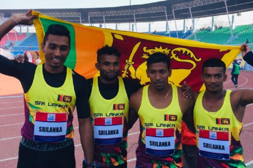 SAG 2019: Sri Lanka scoop more golds with record in Men's 100x4 relay