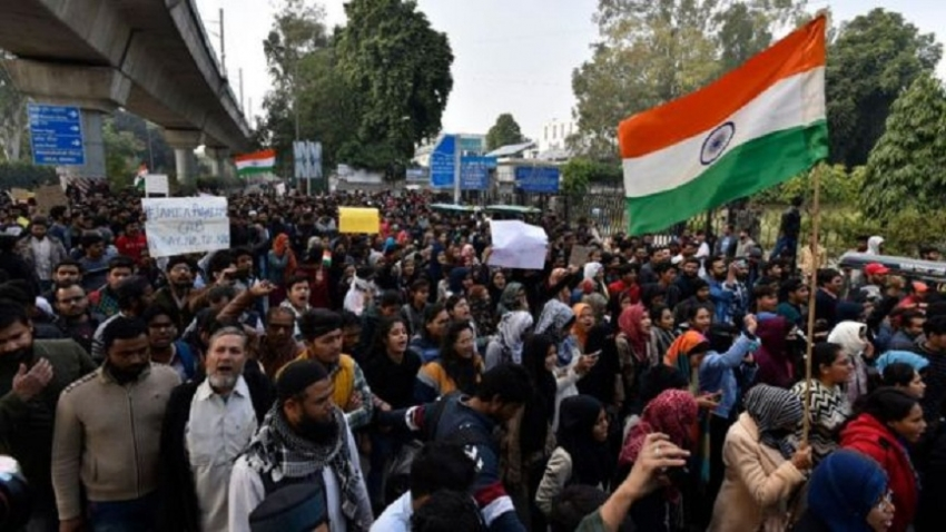 India PM Modi appeals for calm as protests grow