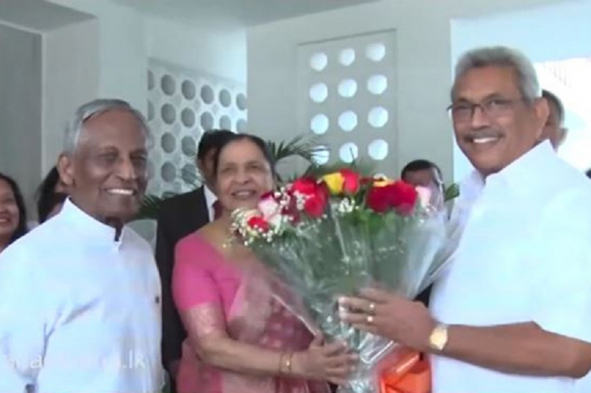 President visits SL High Commission in India
