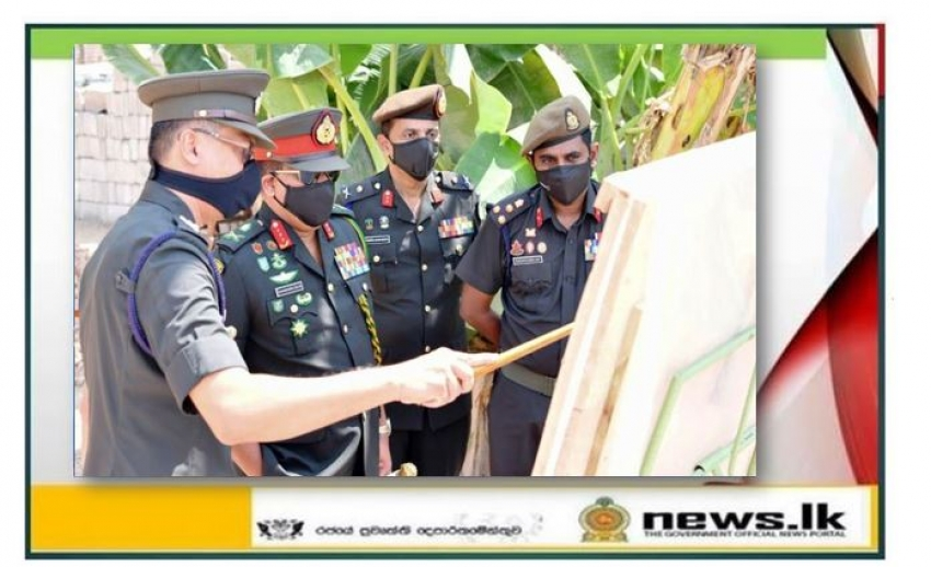 Commander Inspects Construction Site of the New Kitchen Complex