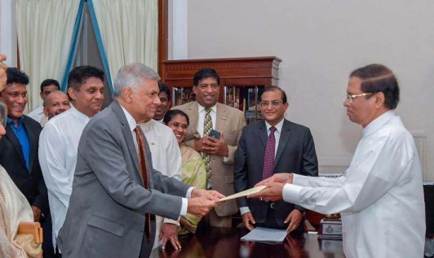 Ranil Wickremesinghe sworn in as PM
