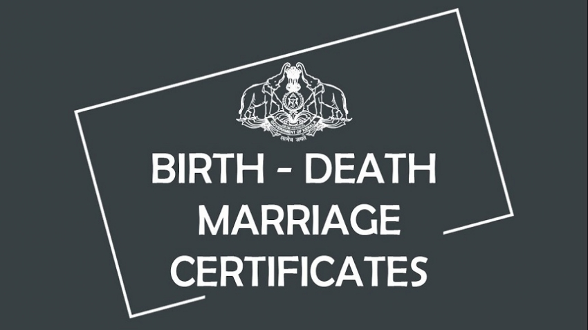 Birth, death and marriage certificates now one-day service