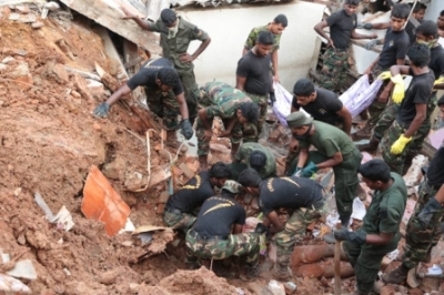 Over one thousand tri forces personnel involved in Meetotamulla relief operations