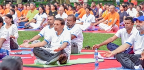 President joins Yoga Day celebrations
